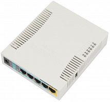 Wireless Router MikroTik RB951G-2HnD Wi-Fi, 5 LAN 10/100/1000(1х PoE PSE), USB 3/4G, 2.4GHz, 802.11n,128MB RAM, RouterOS L4 без упаковки