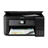 МФУ Epson L4160 (Printer-copier-scaner, A4, 33/15ppm (Black/Color), 69sec/photo, 64-256g/m2, 5760x1440dpi, 1200x2400 scaner, LCD 3.7cm, Wi-Fi, USB)